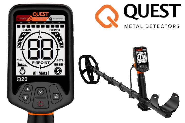 Quest Q20 Metalldetektor & Xpointer Pinpointer & Schatzsucherhandbuch